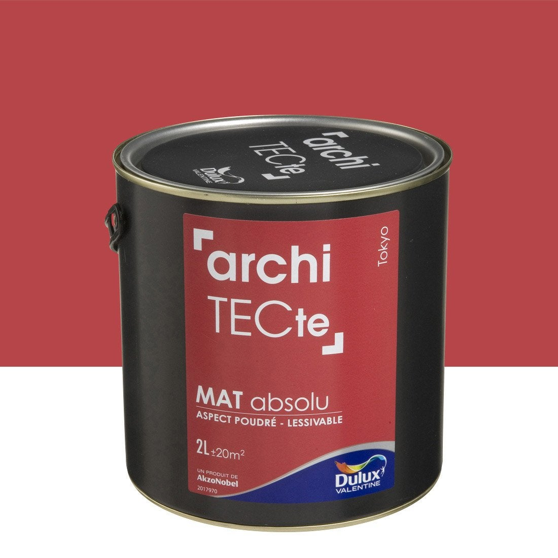 peinture rouge tokyo dulux valentine architecte 2 l leroy merlin. Black Bedroom Furniture Sets. Home Design Ideas
