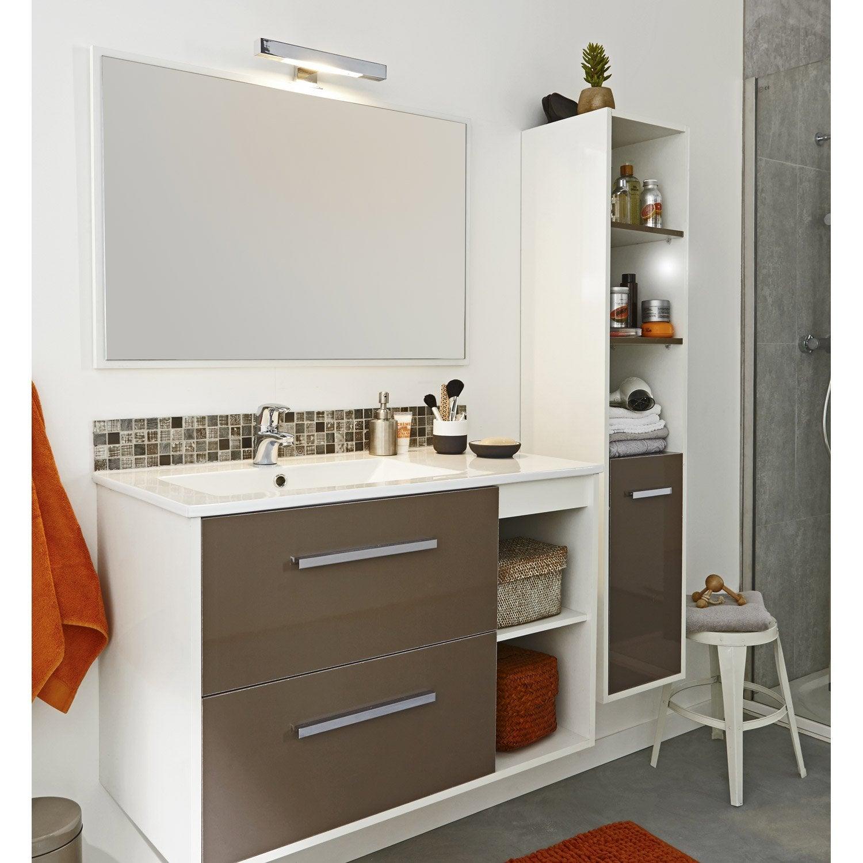 caisson colonne epure brun chocolat l30xh150xp34 5 cm. Black Bedroom Furniture Sets. Home Design Ideas