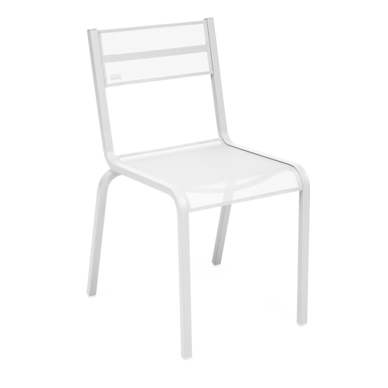 Chaise De Jardin En Aluminium Ol Ron Blanc Leroy Merlin