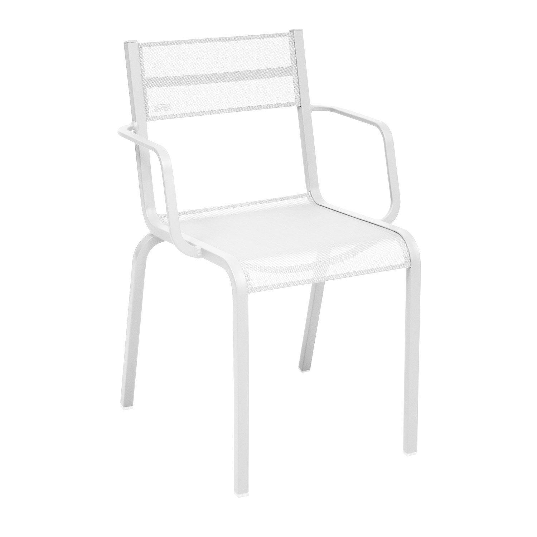 fauteuil de jardin en aluminium ol ron blanc leroy merlin. Black Bedroom Furniture Sets. Home Design Ideas