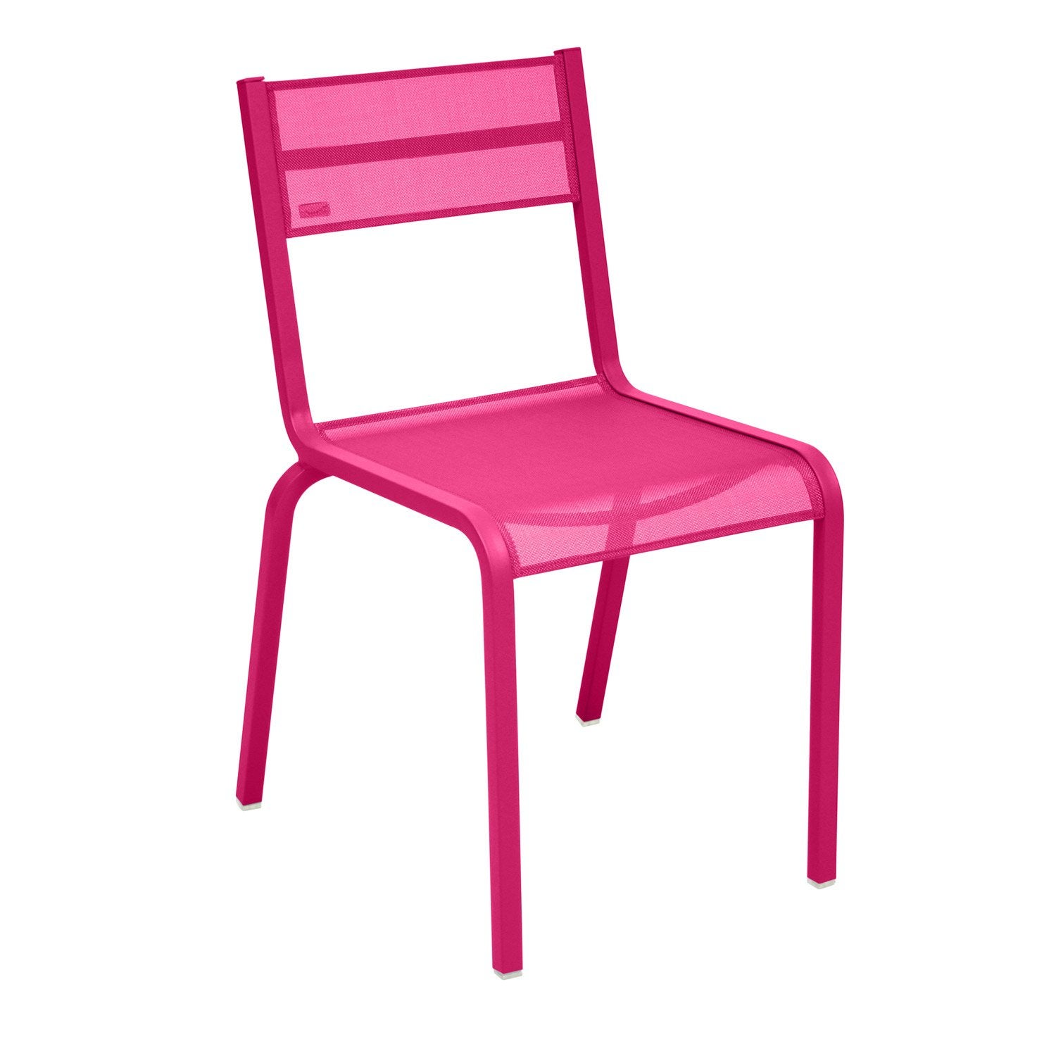 Chaise de jardin en aluminium ol ron coloris fuchsia for Chaise jardin leroy merlin