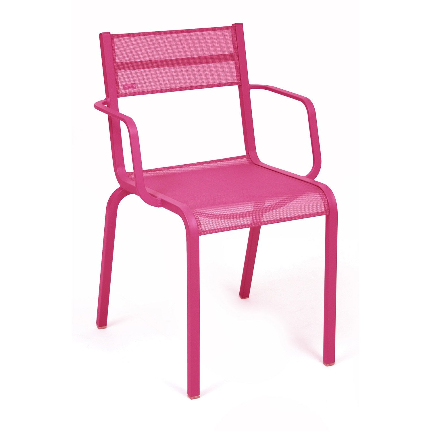fauteuil de jardin en aluminium ol ron fuchsia leroy merlin. Black Bedroom Furniture Sets. Home Design Ideas