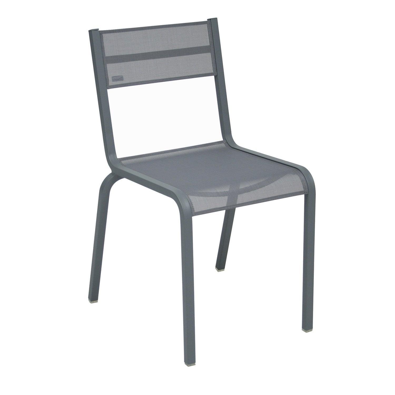 Chaise de jardin en aluminium ol ron couleur gris orage - Leroy merlin chaise de bar ...