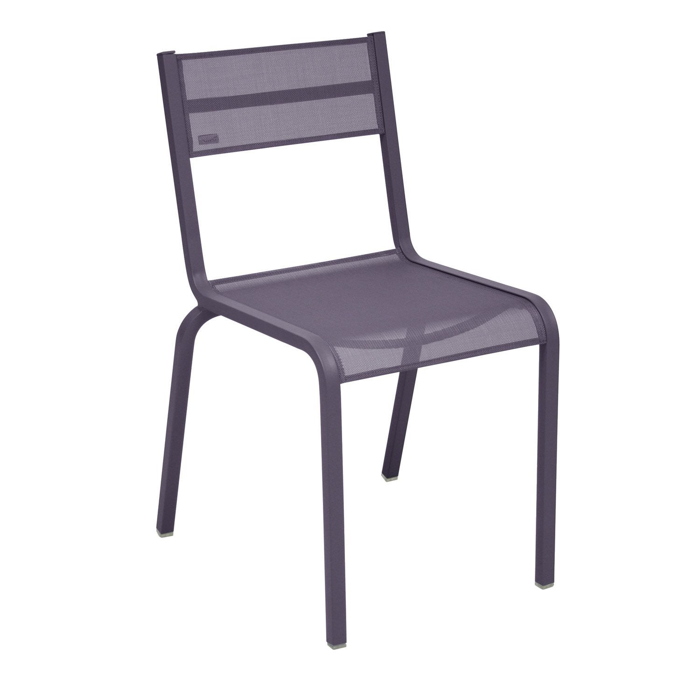 Chaise de jardin en aluminium ol ron prune leroy merlin - Chaise plexi leroy merlin ...