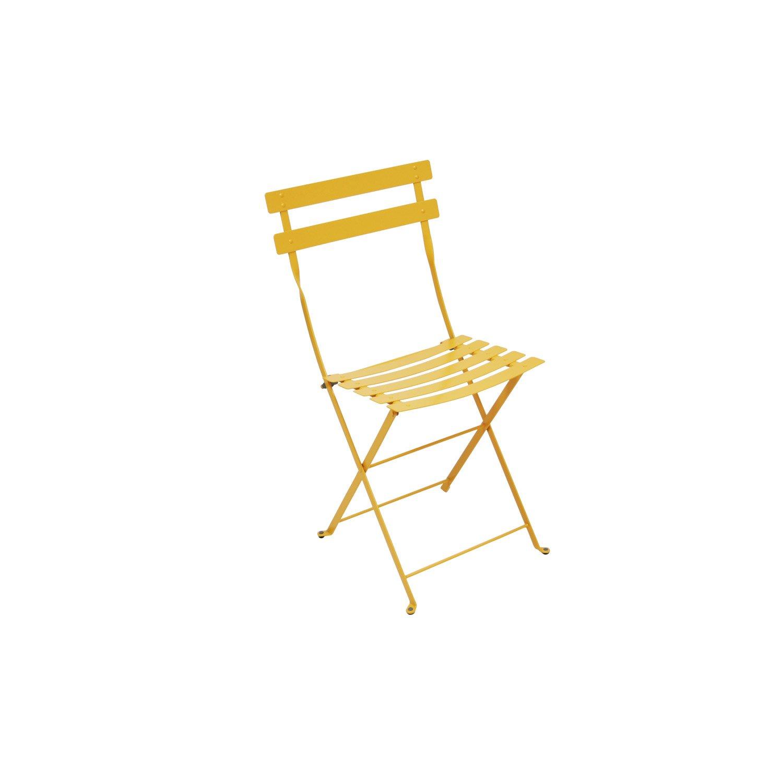 Chaise de jardin en acier bistro miel leroy merlin for Chaise jardin leroy merlin
