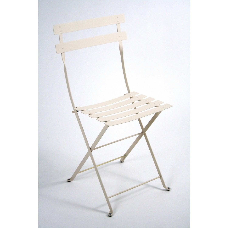 Chaise de jardin en acier bistro lin leroy merlin - Leroy merlin chaise jardin ...