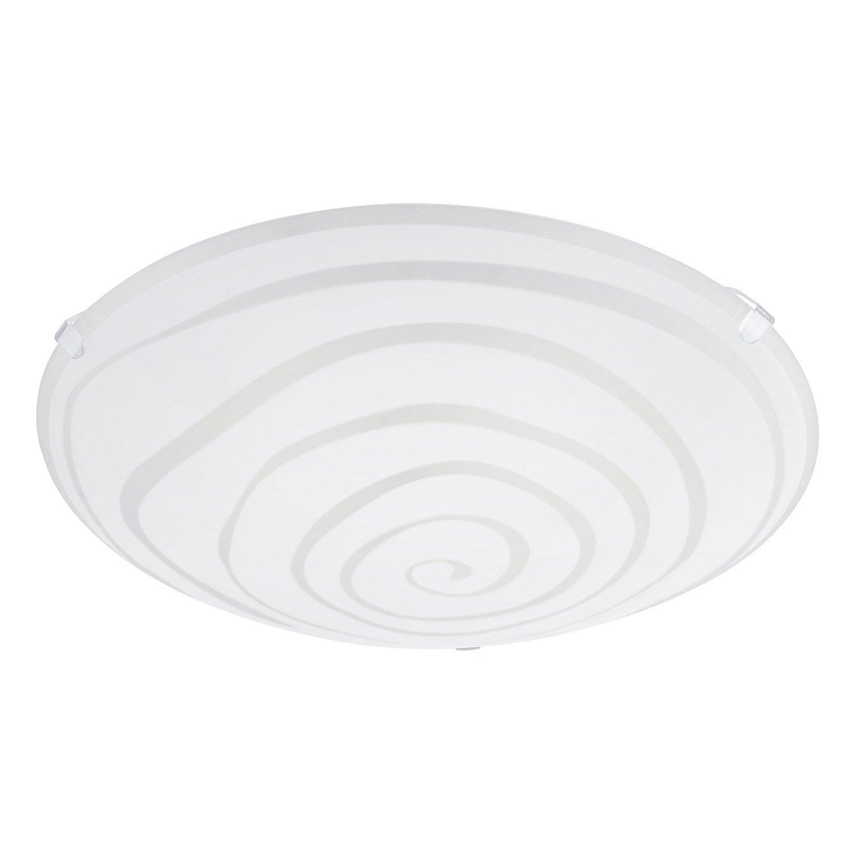 plafonnier design e27 ceprano verre blanc 1 x 60 w eglo Résultat Supérieur 15 Frais Plafonnier Design Blanc Photos 2017 Kgit4