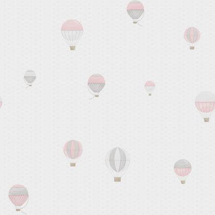 papier peint montgolfiere rose gris intiss little world leroy merlin. Black Bedroom Furniture Sets. Home Design Ideas