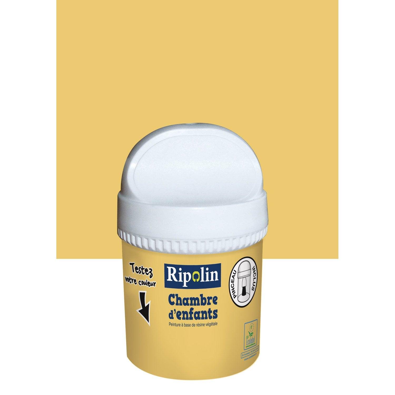 Testeur peinture jaune mimosa RIPOLIN Chambre denfants 0