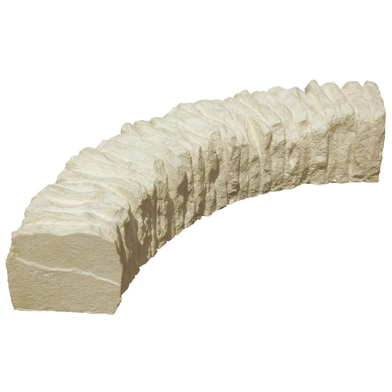 bordure courbe c vennes pierre reconstitu e ton pierre h. Black Bedroom Furniture Sets. Home Design Ideas