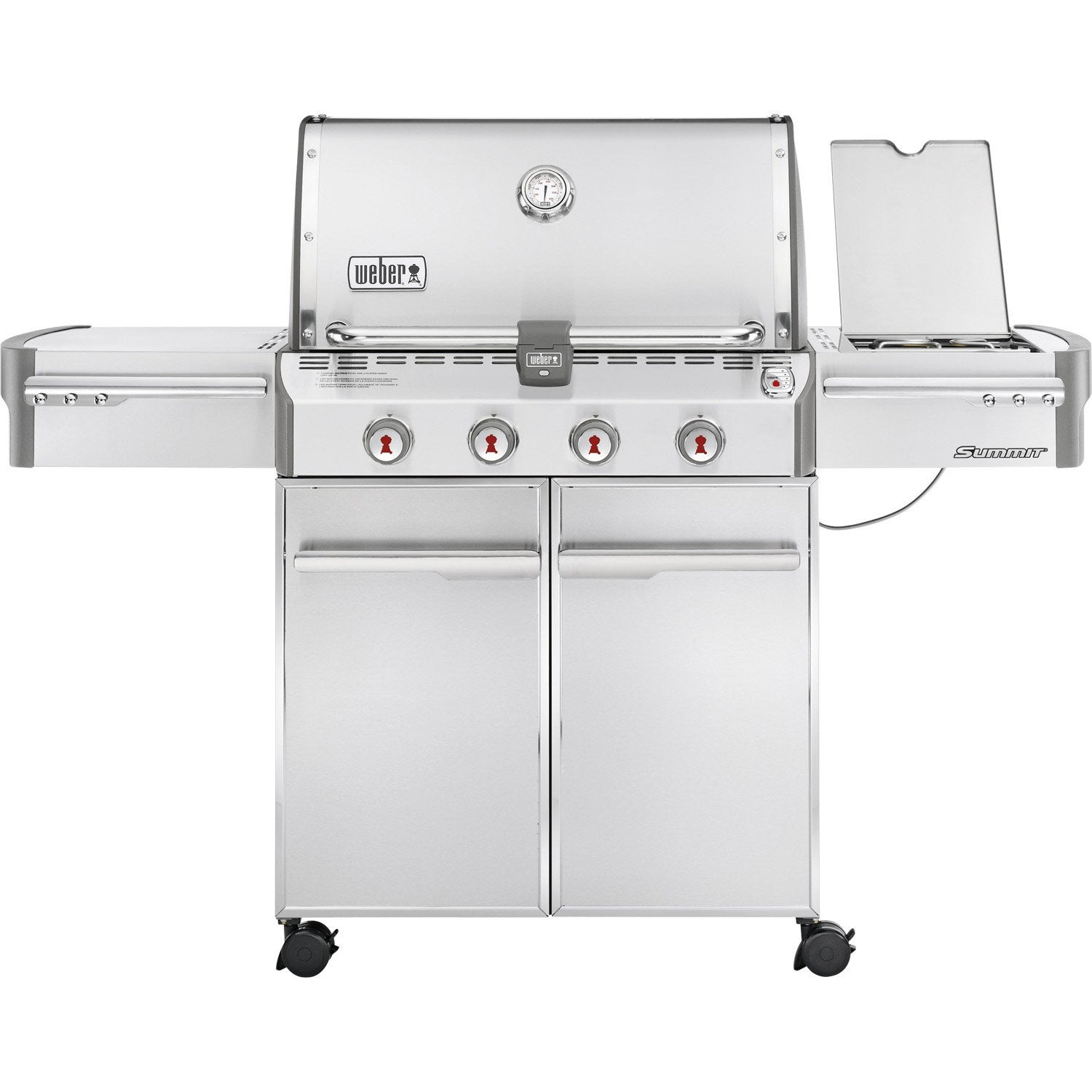 Barbecue au gaz weber summit 4 bruleurs leroy merlin for Barbecue weber gaz q120