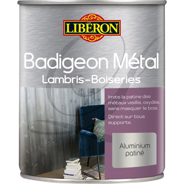 Lasure int rieure poutre et lambris badigeon liberon satin acier lustr 1l - Poutre metallique leroy merlin ...