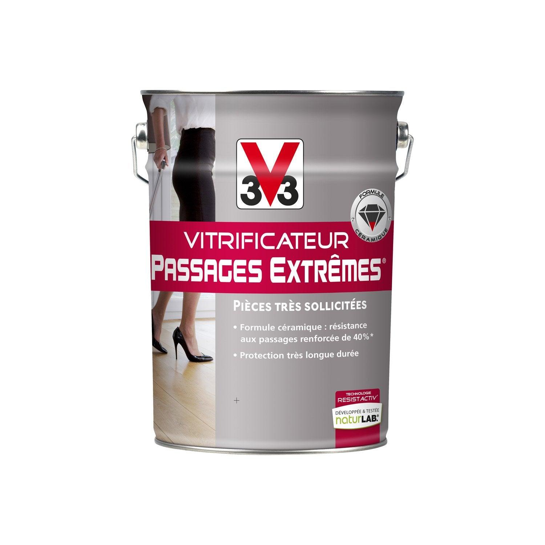Vitrificateur parquet passages extr mes v33 incolore 5 l leroy merlin - Vitrificateur chene fonce ...