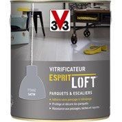 LEROY MERLIN - Vitrificateur parquet Esprit Loft, V33, gris b�ton satin, 2.5L