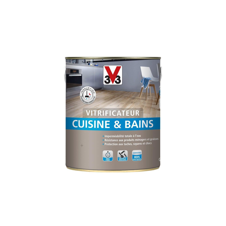vitrificateur cuisine et bain cuisines bains v33 2 5 l incolore leroy merlin. Black Bedroom Furniture Sets. Home Design Ideas