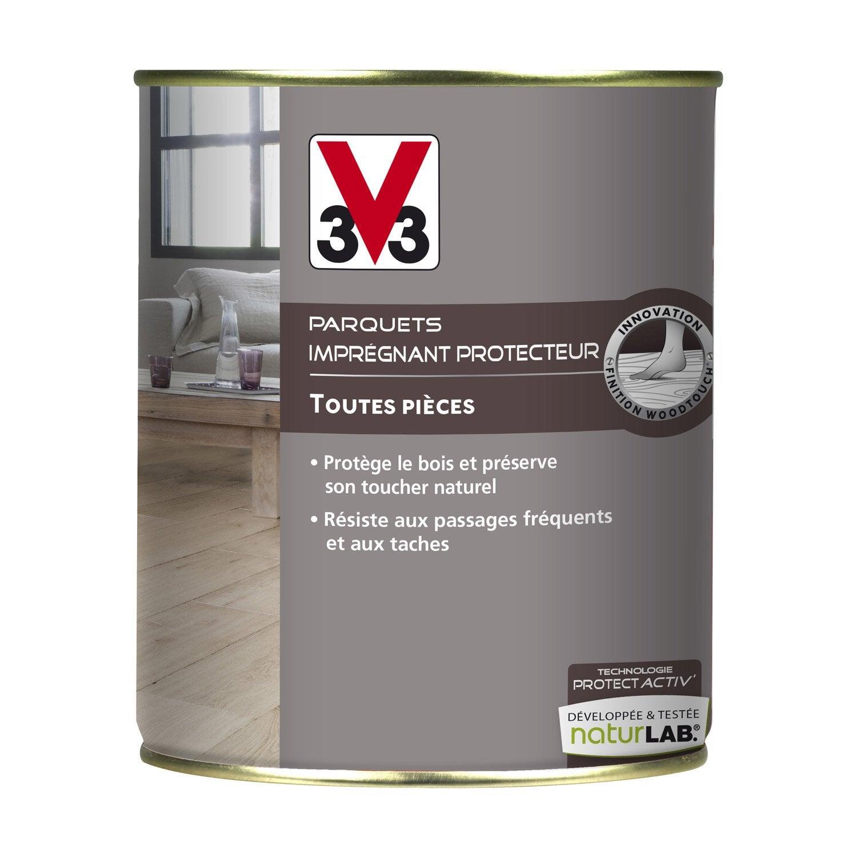 impr gnant parquet protect 39 activ v33 incolore l leroy merlin. Black Bedroom Furniture Sets. Home Design Ideas