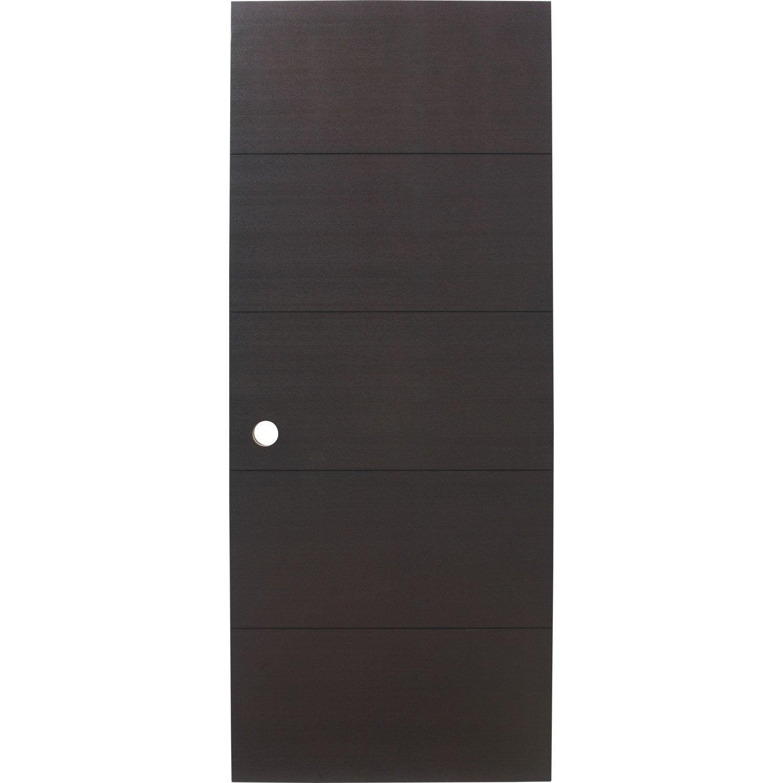 Porte coulissante fr ne plaqu marron tokyo artens 204 x 93 cm leroy merlin - Portes japonaises coulissantes leroy merlin ...