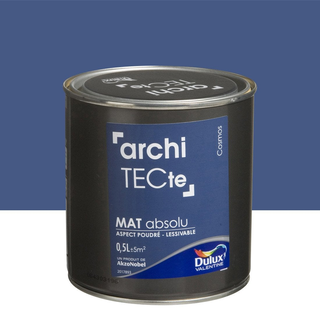 peinture bleu cosmos dulux valentine architecte 0 5 l leroy merlin. Black Bedroom Furniture Sets. Home Design Ideas