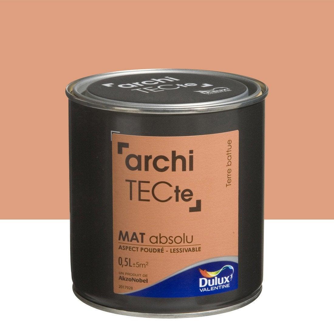 peinture brun terre battue dulux valentine architecte 0 5. Black Bedroom Furniture Sets. Home Design Ideas