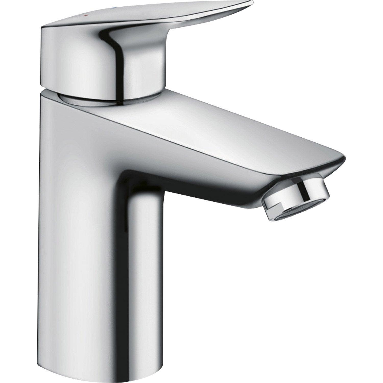 Mitigeur de lavabo chrom brillant hansgrohe mycube l - Grifos de lavabo leroy merlin ...