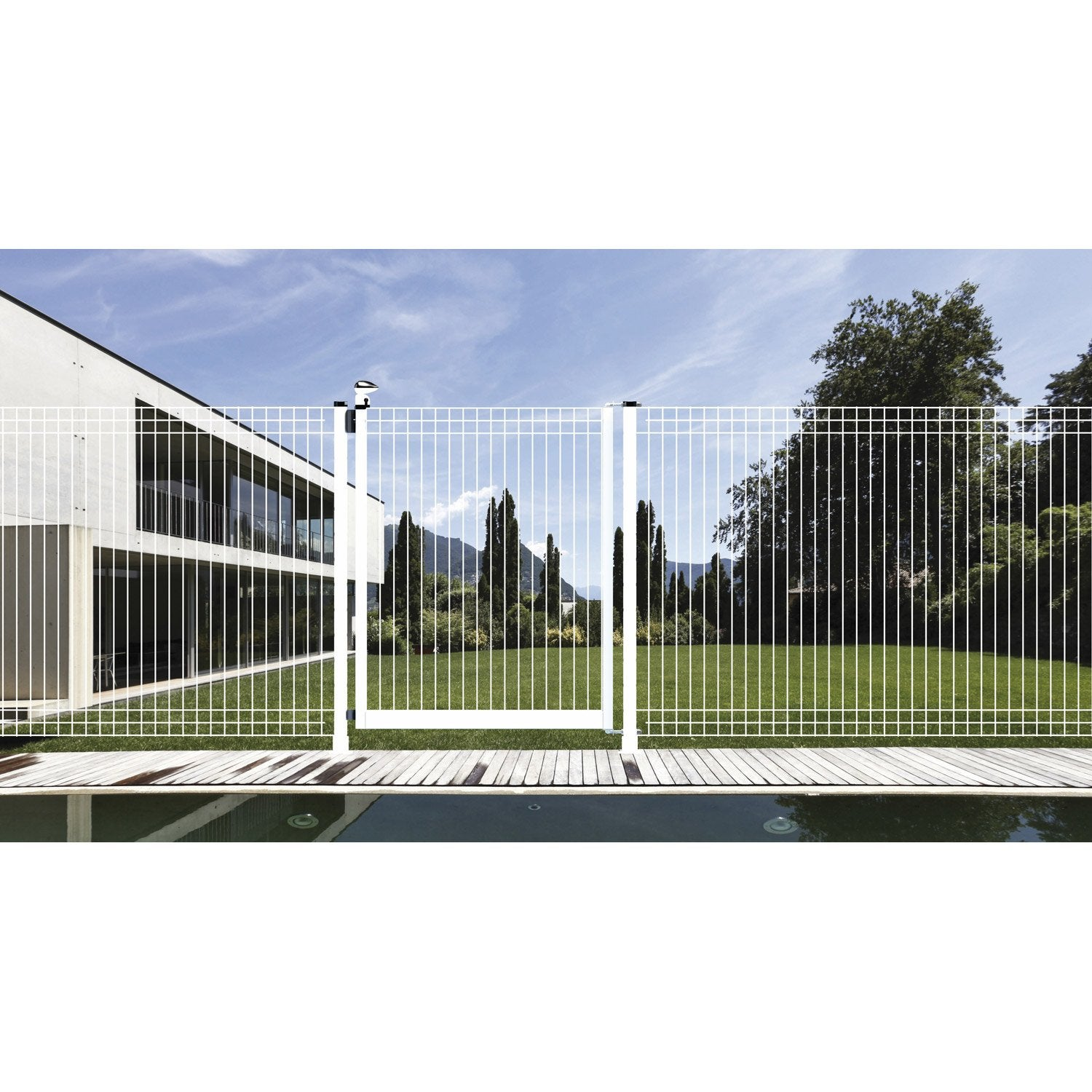 Cloture piscine cloture piscine with cloture piscine for Portillon piscine verre