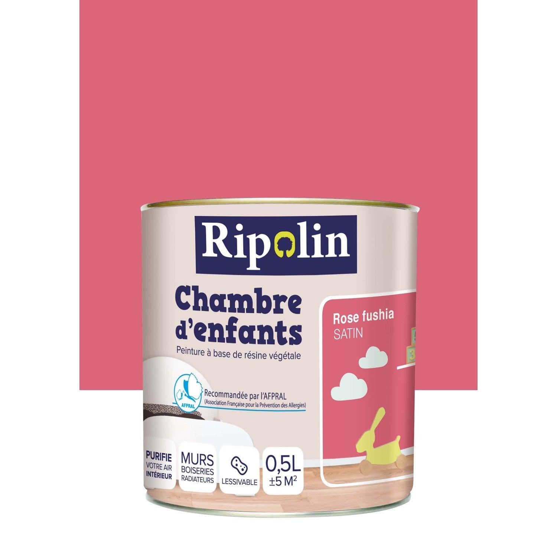 Peinture rose fushia chambre meilleures images d for Peinture chambre leroy merlin
