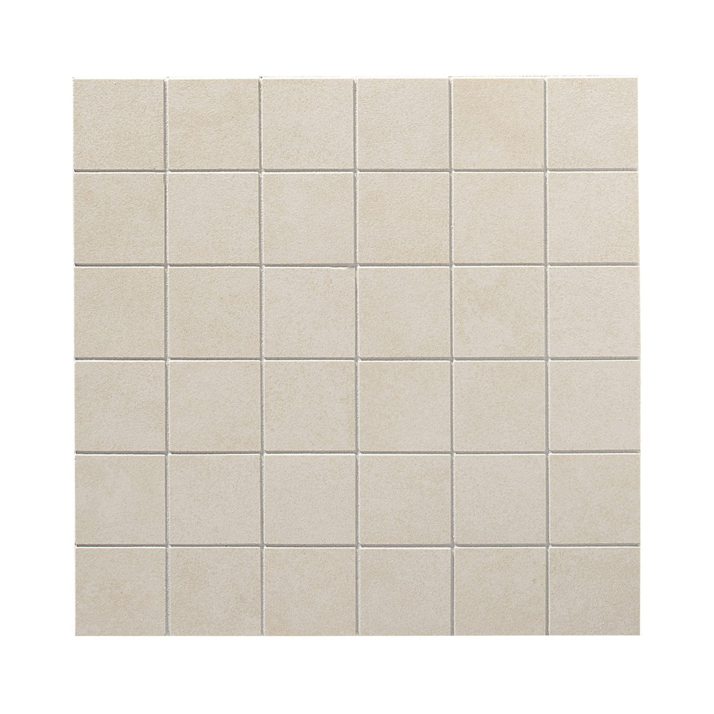 plaque en gr s c rame maill teint artens focus 5x5 blanc lin n 3 30x30cm leroy merlin. Black Bedroom Furniture Sets. Home Design Ideas
