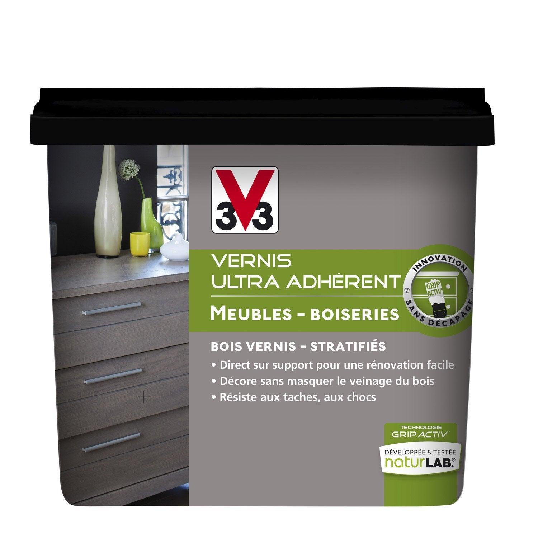 Vernis meuble et objets v33 noir de jais l leroy for Peinture meuble cuisine v