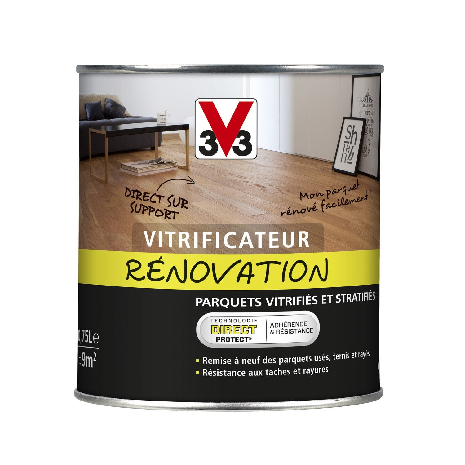vitrificateur parquet de r novation v33 l incolore. Black Bedroom Furniture Sets. Home Design Ideas