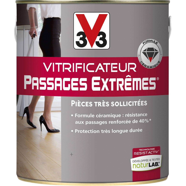vitrificateur parquet v33 incolore 2 5 l leroy merlin. Black Bedroom Furniture Sets. Home Design Ideas
