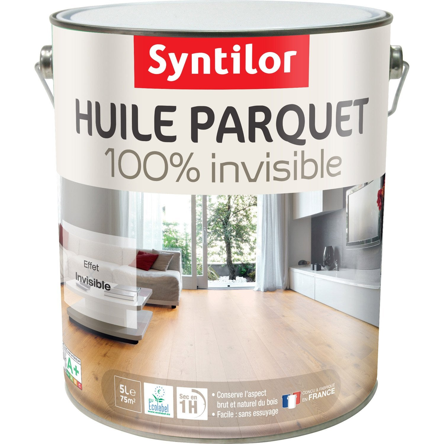 huile parquet 100 invisible syntilor incolore 5 l leroy merlin. Black Bedroom Furniture Sets. Home Design Ideas