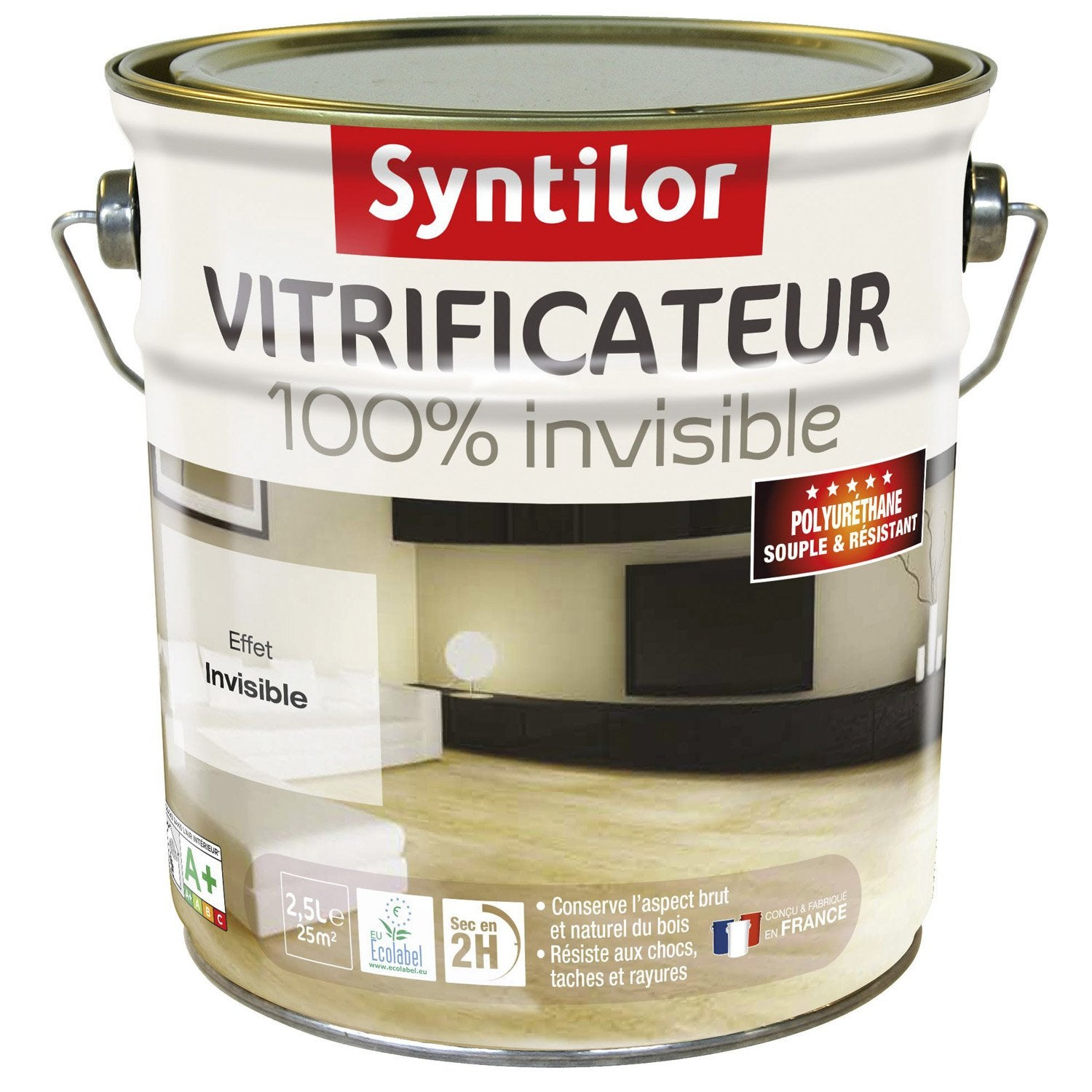 Vitrificateur parquet 100 invisible syntilor incolore 2 for Converse logo interieur ou exterieur