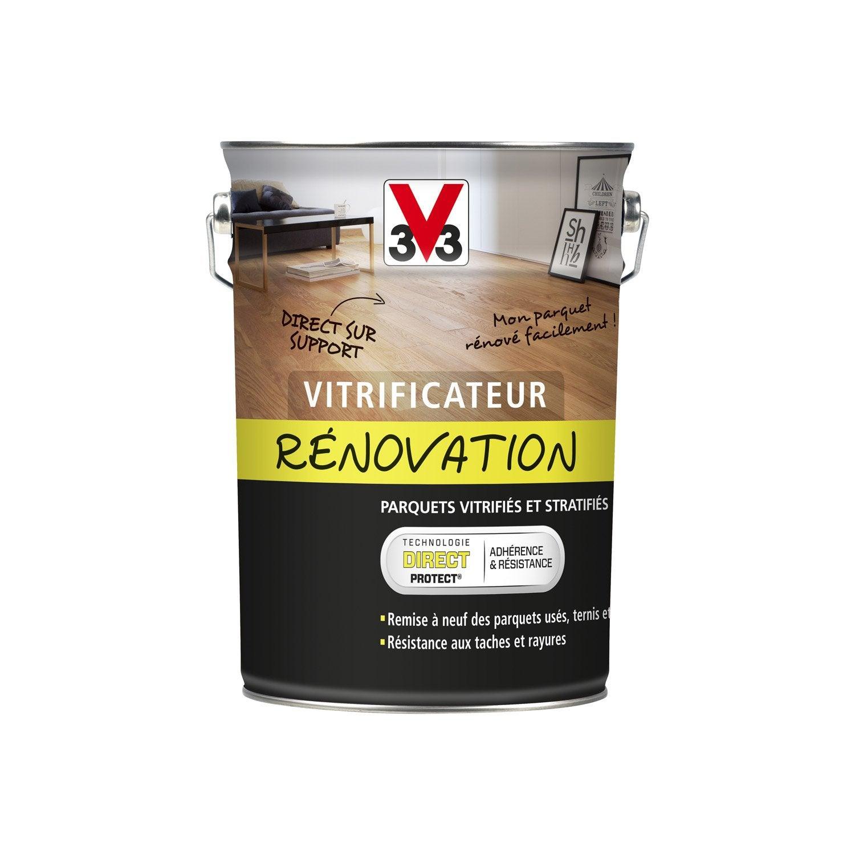 vitrificateur parquet de r novation v33 incolore 5 l leroy merlin. Black Bedroom Furniture Sets. Home Design Ideas