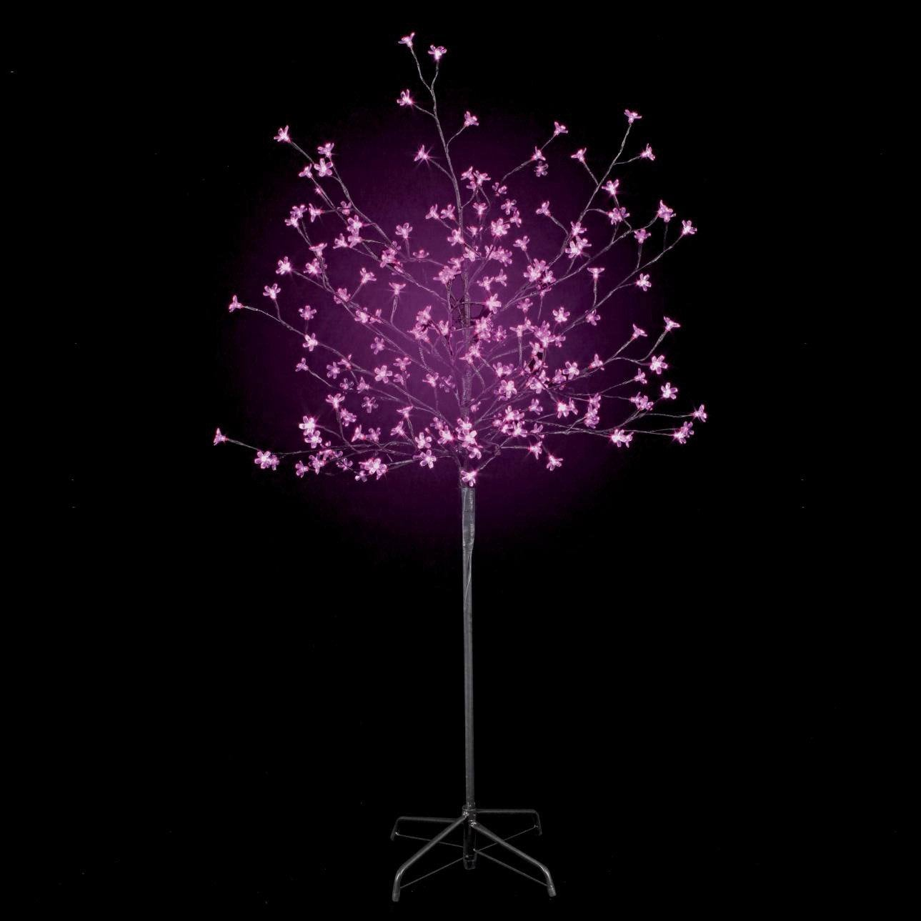 Arbre lumineux ext rieur prunus rose leroy merlin for Arbre decoratif exterieur