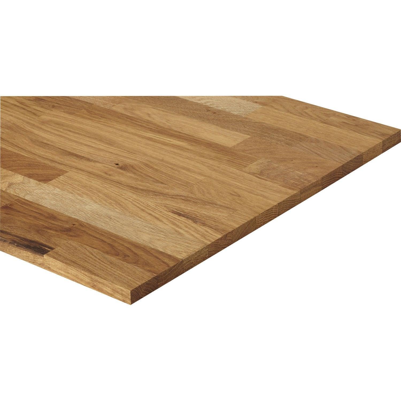 tablette ch ne lamell coll x cm mm leroy merlin. Black Bedroom Furniture Sets. Home Design Ideas