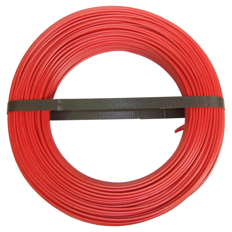 Fil électrique h07vu rouge, 15 mm² L100 m  Leroy Merlin -> Rouleau Fil Électrique