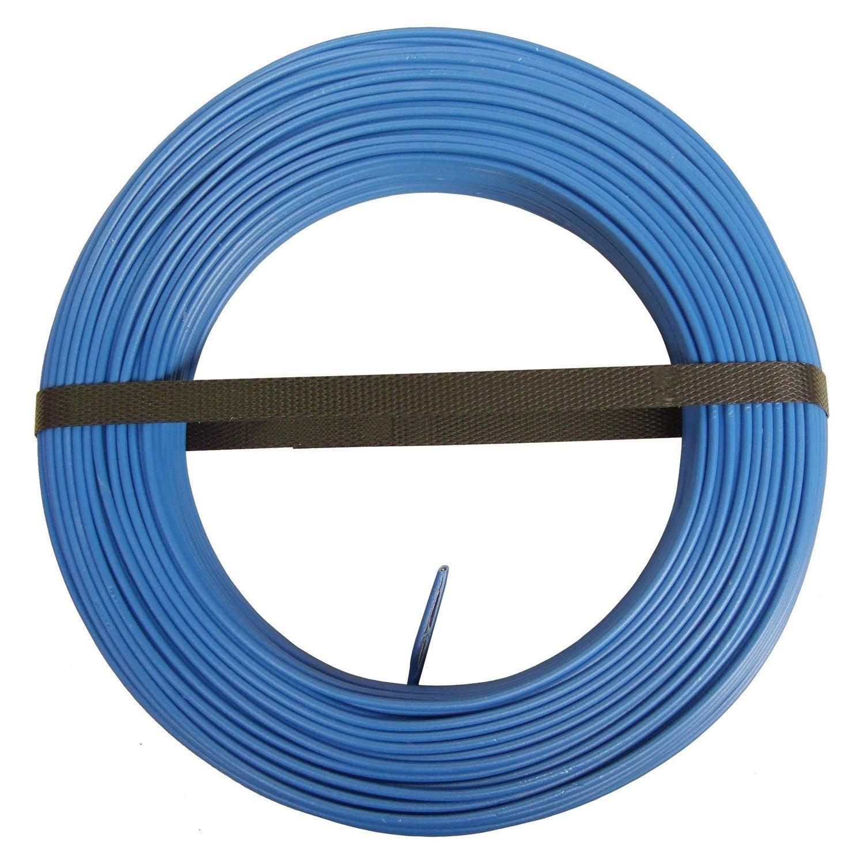 fil lectrique h07vu bleu 1 5 mm m leroy merlin