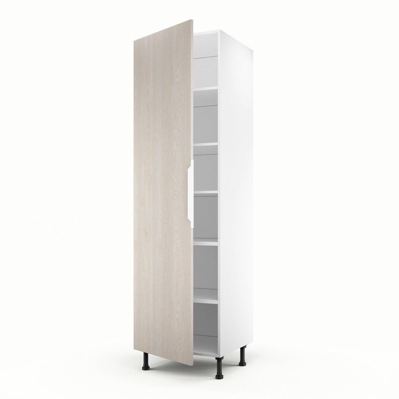 Meuble de cuisine colonne d cor bois 1 porte nordik for Meuble bureau 60 x 60