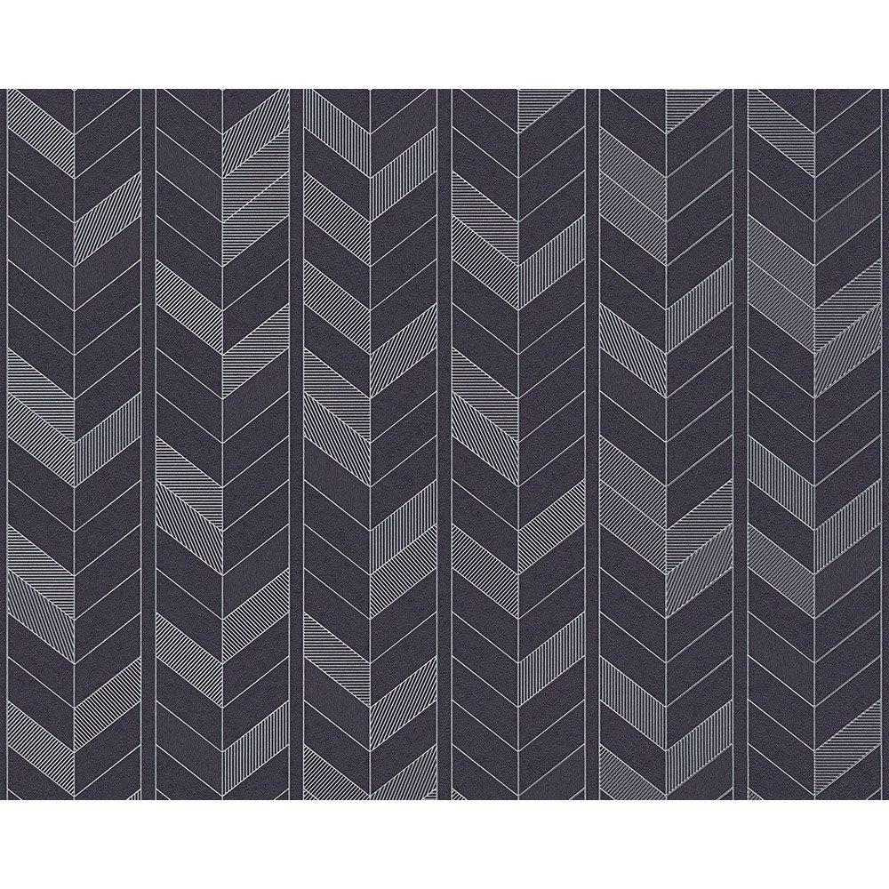 papier peint g om trique blanc noir gris intiss ap 2000 leroy merlin. Black Bedroom Furniture Sets. Home Design Ideas