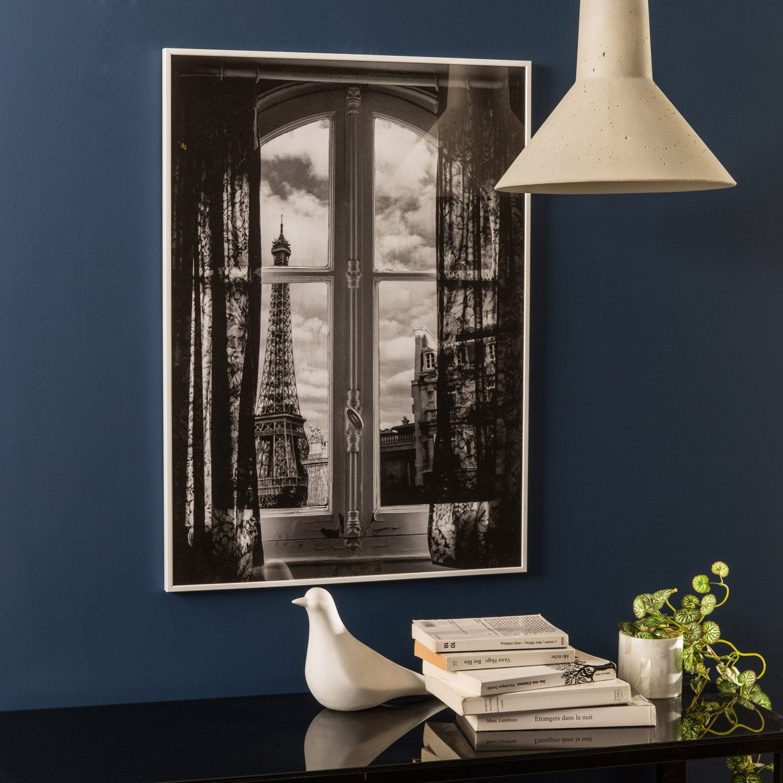 cadre accent 40 x 60 cm blanc leroy merlin. Black Bedroom Furniture Sets. Home Design Ideas