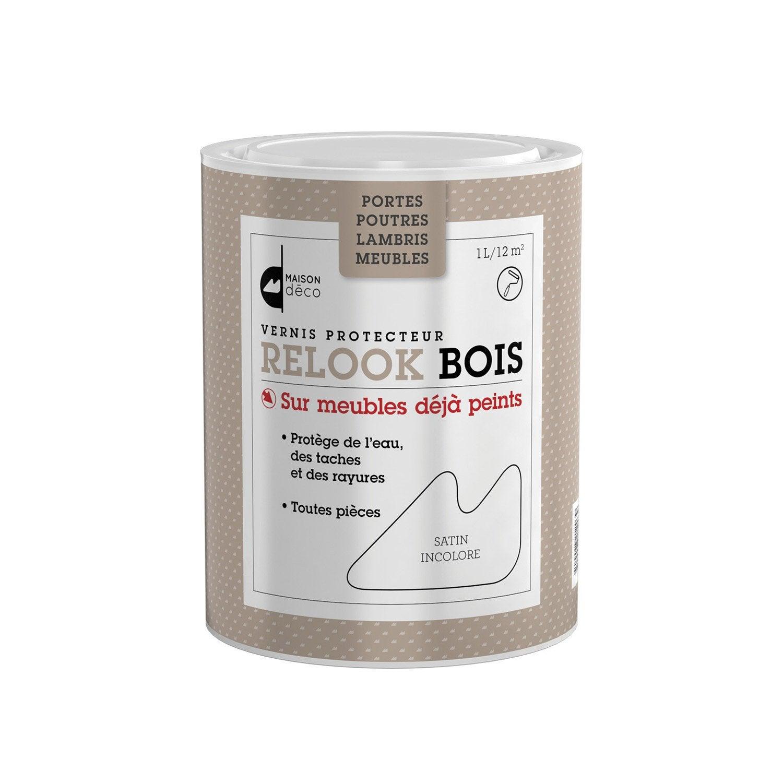Vernis poutre et lambris relook bois maison deco incolore for Peinture pour bois verni