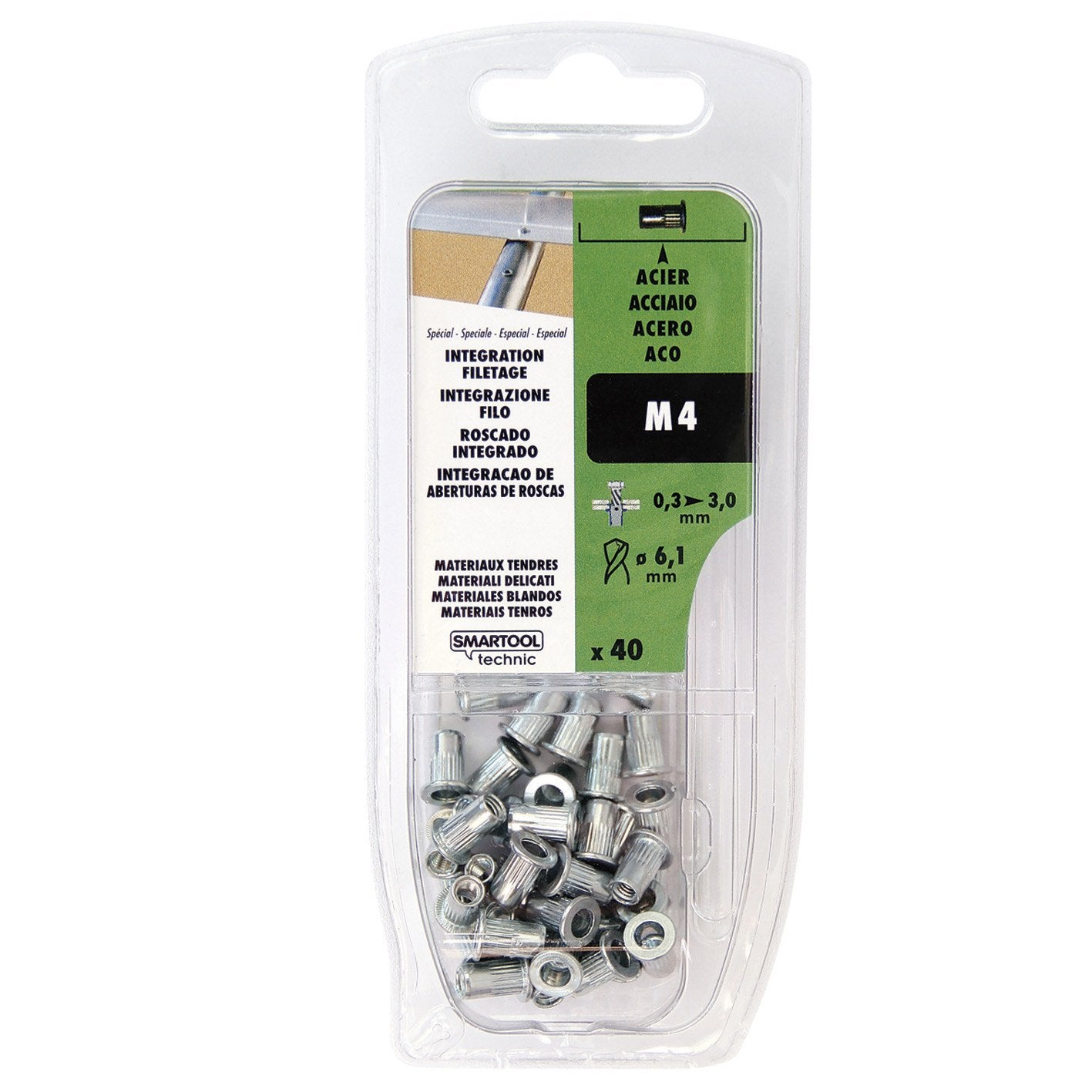 Lot de 40 crous aveugles smartool technic aluminium - Percheros de pie leroy merlin ...