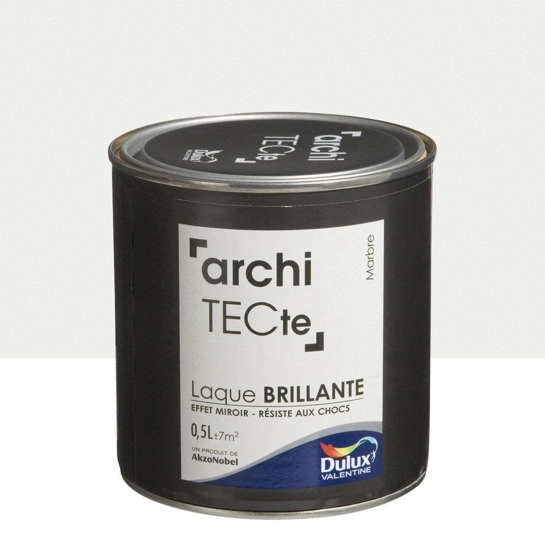 peinture boiserie architecte dulux valentine marbre brillant 0 5l leroy merlin. Black Bedroom Furniture Sets. Home Design Ideas