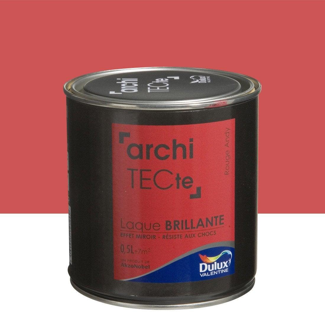 peinture rouge andy dulux valentine architecte 0 5 l. Black Bedroom Furniture Sets. Home Design Ideas