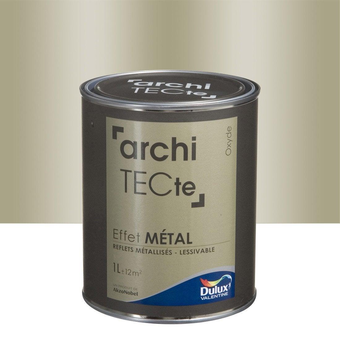 Peinture effet architecte effet m tal dulux valentine beige oxyde 1 l - Peinture effet aluminium ...