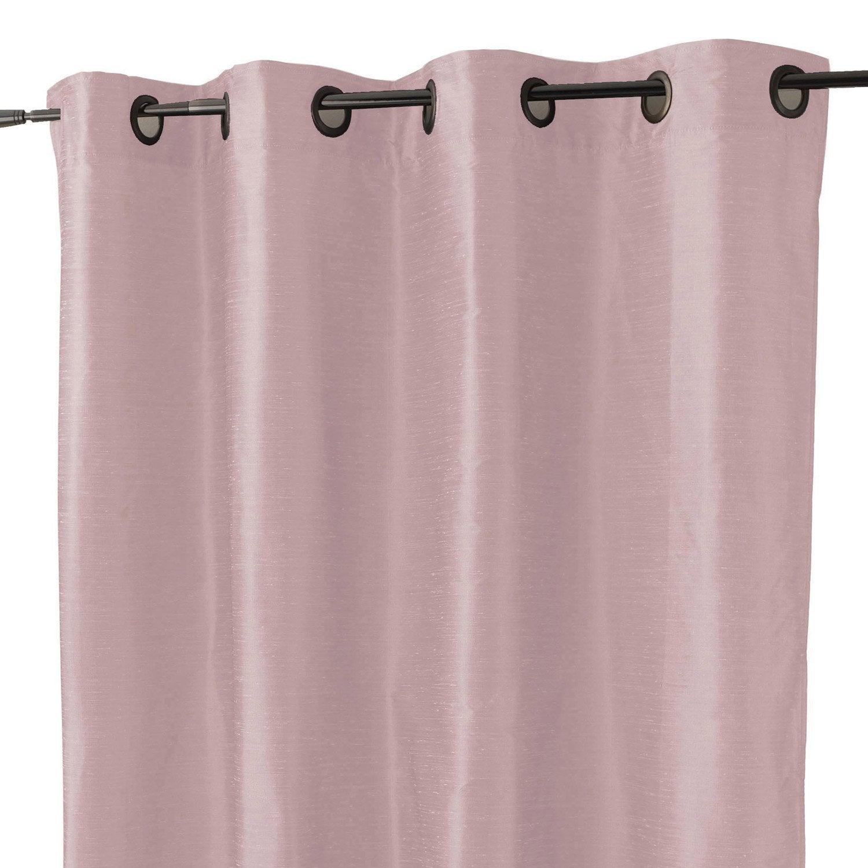 rideau avec doublure aspect soie violet parme x cm leroy merlin. Black Bedroom Furniture Sets. Home Design Ideas