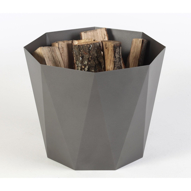 Rangement pour bois acier gris atelier dix neuf quartz h - Coffre jardin leroy merlin aixen provence ...
