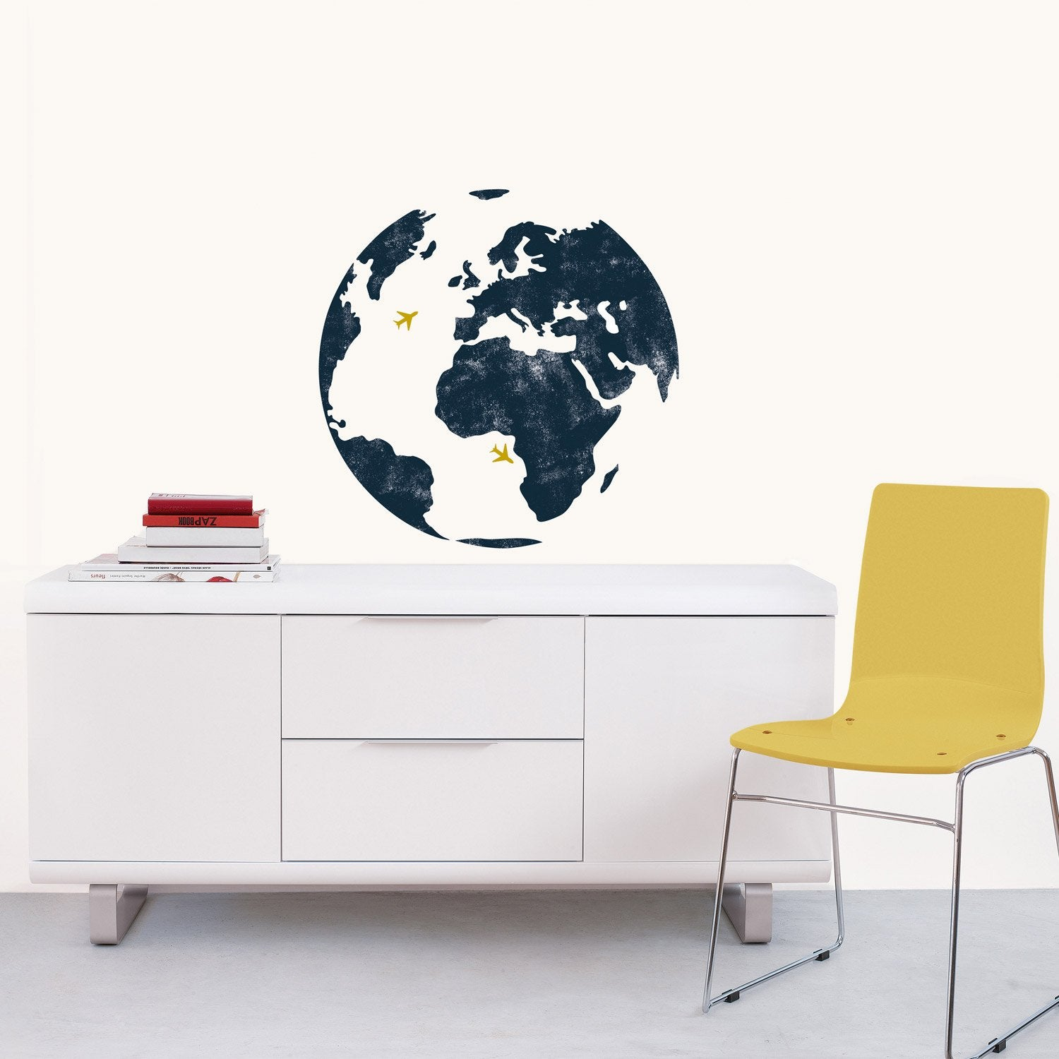 sticker mappemonde 49 cm x 69 cm leroy merlin. Black Bedroom Furniture Sets. Home Design Ideas