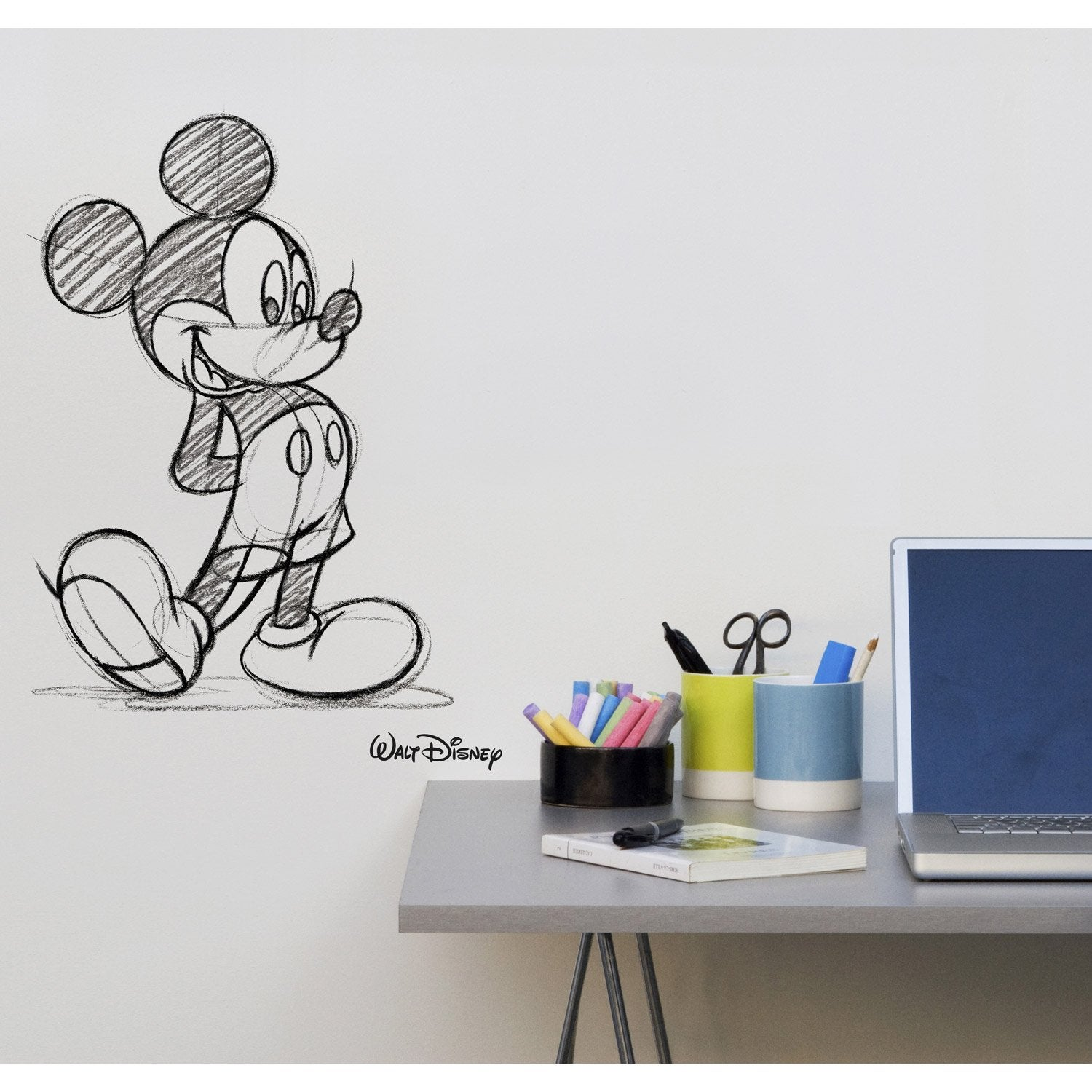 Sticker mickey transfert 49 cm x 69 cm leroy merlin - Leroy merlin stickers muraux ...