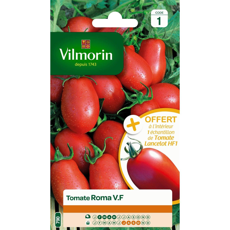 tomate roma vilmorin 1 5 g leroy merlin. Black Bedroom Furniture Sets. Home Design Ideas